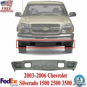 Front Lower Valance Textured For 2003 2007 Chevrolet Silverado 1500 2500hd 3500