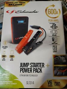 Schumacher Electric 600 Amp Car Battery Jump Starter With Digital Display