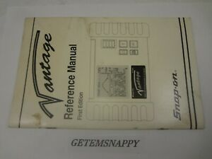 Snap On V1 0 Software Reference Manual For Mt2400 Vantage Graphing Scanner