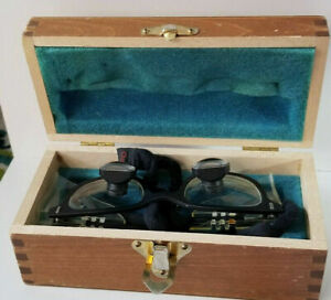Designs For Vision Dental Surgical Loupe Telescope 2 5x Glasses Wood Case