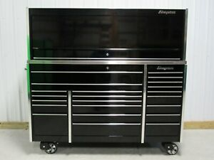 Snap On Black Krl1023 Tool Box Stainless Steel Top Krl1072 Power Hutch Led