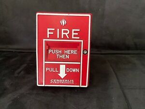 Siemens Cerberus Pyrotronics Msi 20b Fire Alarm Addressable Pull Station