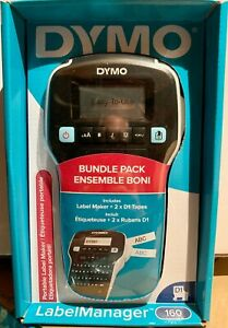 Dymo Label Maker With 2 D1 Dymo Label Tapes Labelmanager 160 Portable