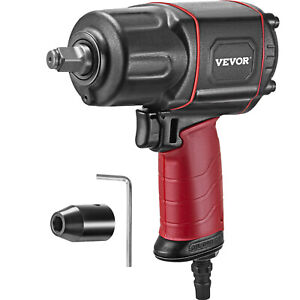Vevor 1 2 Drive Air Impact Wrench 738ft lbs Twin Hammer Pneumatic 3 Torque