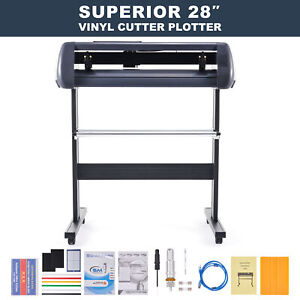 28 Inch Feed Vinyl Cutter Machine 31in sec Sign Maker Cutting Kit W Signmaster