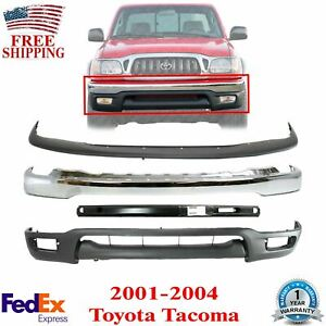 Front Bumper Chrome upper Cover valance reinforcment For 2001 2004 Toyota Tacoma