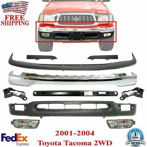 Front Bumper Chrome Cover Filler Valance For 2001 2004 Toyota Tacoma 2wd