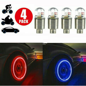 4x Led Car Wheel Light Valve Stem Rim Tire Light Lamp For Car Truck Bike Scooter