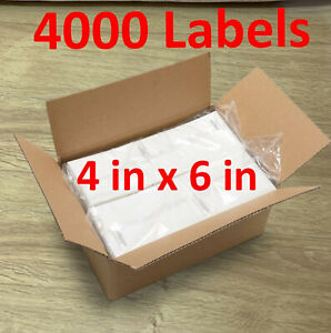 4000 4x6 Fanfold Direct Thermal Shipping Labels For Zebra Rollo Printers