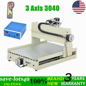 Usb 3 Axis Cnc 3040 Engraving Cutting Drill Milling Machine Woodworking Rc