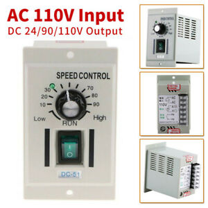 Adjustable Pwm Dc Motor Speed Controller Ac 110v To Dc 90v For Dc Motor New