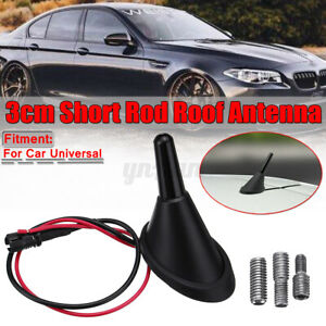 Car Universal Short Rod Roof Antenna Base With Amplifier Adapters Kit