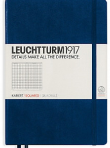 Leuchtturm 1917 Navy Blue Squared Hardcover Large Dimensions 145 X 210 Mm
