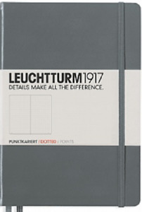 Leuchtturm 1917 Anthacite Dotted Hardcover Dimensions 145 X 210 Mm