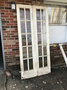 Mar Pink Pair Antique French Doors 36 1 4 X 79 15 16