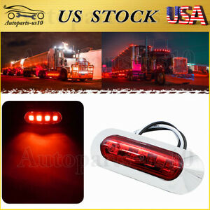 1x Red 4led Marker Light 12 24v Rear Tail Clearence Lights Sealed Truck Trailer