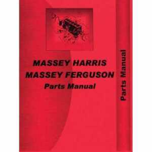 Parts Manual 44 Special Gas Kerosene Lp Compatible With Massey Harris 44 44