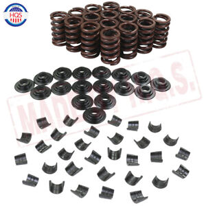 Complete Valve Springs Kit W Steel Retainers Lock For Chevrolet Sbc 327 350 400