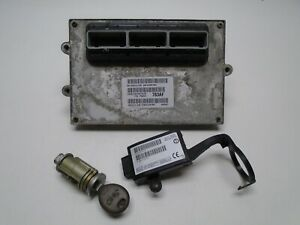01 Jeep Grand Cherokee 4 0 Ecu Ecm Computer Immobilizer Key 56041783af