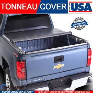 2007 2013 Chevy Silverado Soft Truck Lock Roll Up Tonneau Cover 6 5ft 78 Bed