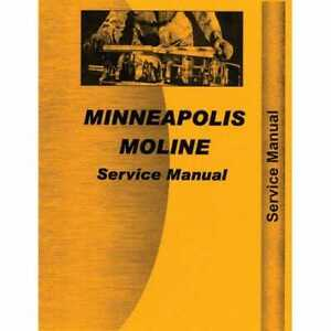 Service Manual U Uti Uts Utu Compatible With Minneapolis Moline U U Uts Uts