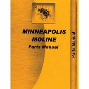 Parts Manual 17 28 Compatible With Minneapolis Moline 17 28