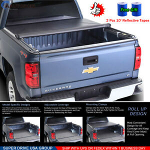 2014 2018 Chevy Silverado 1500 Truck Soft Roll Up Tonneau Cover 5 8ft Short Bed