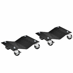 2x 12 x16 Auto Dolly Car Wheel Tire Skates Slides Repair Moving Vehicle 3000lbs