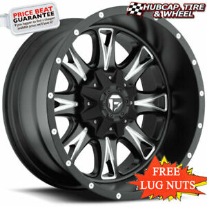 Fuel Offroad D513 Throttle Black Milled 20 X9 Custom Wheels Rims Set Of 4 New