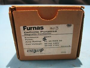 New Furnas 41nb20afp Contactor 2 Pole 110 120v Coil