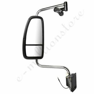 left Chrome Truck Mirror Complete For 1997 2010 International Harvester