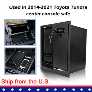 Center Console Safe Gun Storage W Tray For 2014 2020 Toyota Tundra 00016 34174
