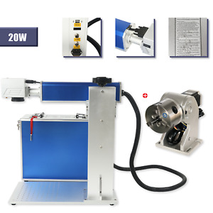 Us Stock 20w Split Fiber Laser Marking Engraving Machine Rotary Axis Include