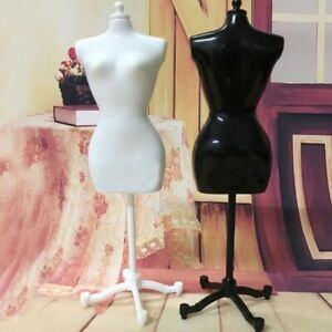 White Black Dress Form Clothing Gown Display Mannequin Model Stand Doll Toy Hold