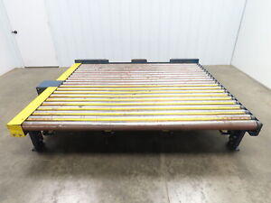 74 Long Powered Live Roller Case Pallet Skid Conveyor 84 W 230 460v 3ph 31 Fpm