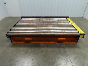 53 Long Powered Live Roller Case Pallet Skid Conveyor 84 W 230 460v 3ph 31 Fpm