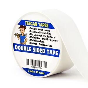Double Sided Tape 2 Inches X 10 Yards Heavy Duty Carpet Tape Excellent For Se