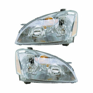 For Nissan Altima 2002 2003 2004 Pair New Left Right Headlight Assembly