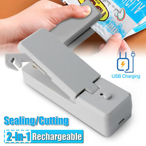 Usb Rechargeable Heat Sealing Portable Cutter Safety Lock Bag Sealer Machine Us