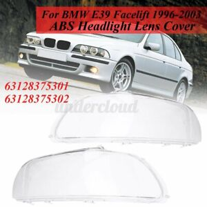 Clear Headlight Lens Headlamp Cover Shell For Bmw E39 Facelift 1996 03 Clear