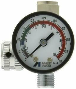 New Anest Iwata Hand Pressure Gauge Ajr 02s vg Air Regulator For Spray Guns