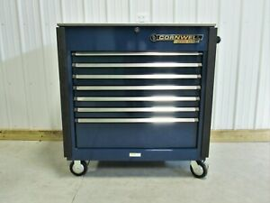 Cornwell Tools Blue 43 Tool Box Cart Stainless Top