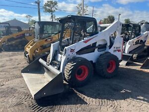 2014 Bobcat S750 Open Cab Quick Attach New Floating Tires Kubota Engine