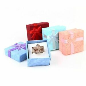 Lot Of 78 Small Earrings ring Gift Boxes 1 5 X 1 5 X 1 Inch Random Colors