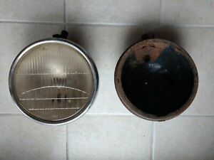 Vintage 28 31 Ford Headlight Buckets One Two Lite Lens And Bezel Rat Rod