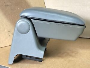1987 1993 Ford Mustang Center Console Armrest Storage Gray Top Does Not Latch