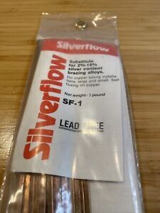 Silverflow Phos copper Brazing Alloy 1lb By Thermadayne Lead Free 2 15