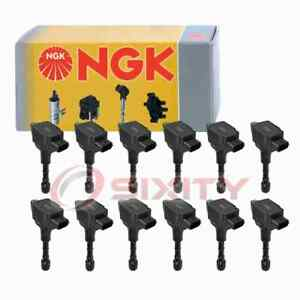 12 Pc Ngk Ignition Coils For 2017 Rolls royce Ghost 6 6l V12 Spark Plug Wire Jg
