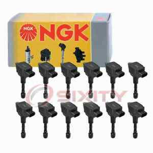 12 Pc Ngk Ignition Coils For 2017 Rolls royce Dawn 6 6l V12 Spark Plug Wire Dj
