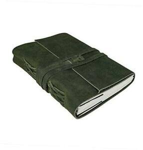 Handmade Leather Journal Writing Notebook Diary Leather Green Bound Writing